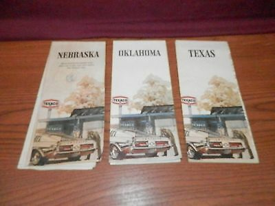 Texaco Gas Station 1970's Road Maps    Lot of 3 Maps