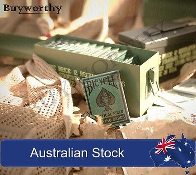 Tactical Field Playing Cards Military Extreme Weather Bicycle Poker Deck NEW