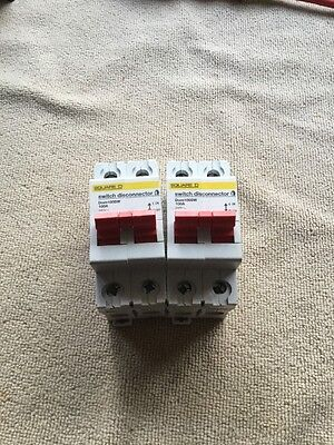 Square D Domae - DOM100SW - 100a Double Pole Switch Disconnector Un-used