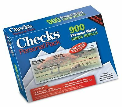 Blank Printable Checks - Personal Pack NEW, FREE SHIPPING