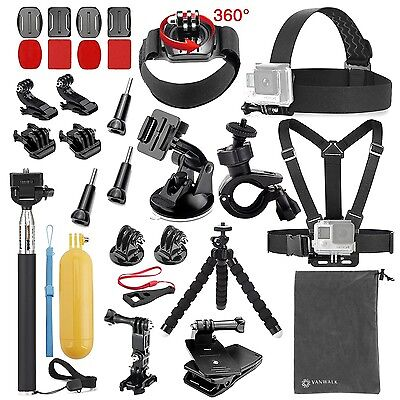 Vanwalk 20-in-1 Accessories Kit for Gopro Hero 5 Session 5 4/3+/3/2 Accessory...