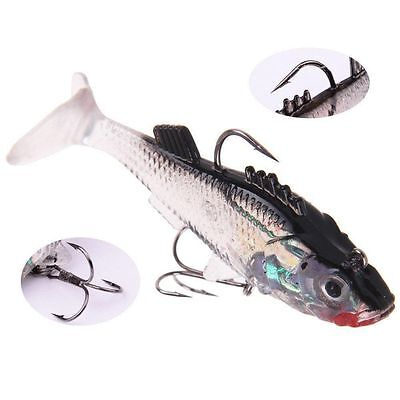 Bass Trout Soft Lures Fishing Baits Silicone Crank Swim Bait