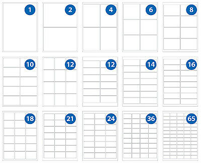 Labels - A4 Sheets, perm Adhesive Round Corner Inkjet Laser Copies