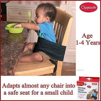 Clippasafe Baby Child Safety Dining Chair Harness Travel Seat Feeding Booster