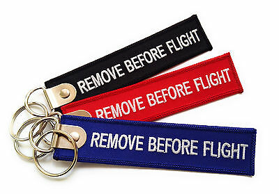 Premium Remove Before Flight Keychain | Luggage tag | Keyring | High Quality