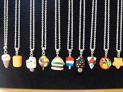 Wholesale Jewellery Joblot 10 Necklaces, Fimo Character Pendant.gift, Party Bags