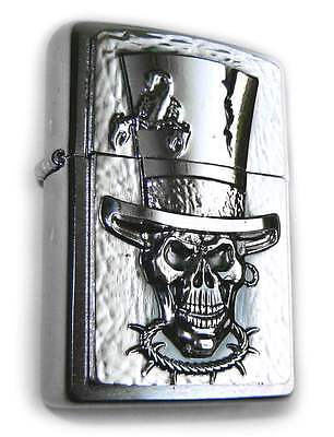 Zippo TOP HAT SKULL Pimp SCORPION 3D ROCKABILLY Plate Special Edition RARE !
