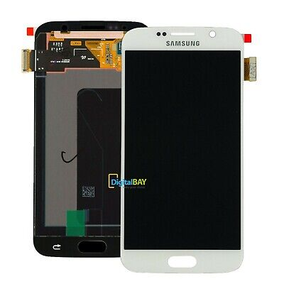 LCD DISPLAY + TOUCH Service Pack per SAMSUNG GALAXY S6 SM-G920F BIANCO SCHERMO