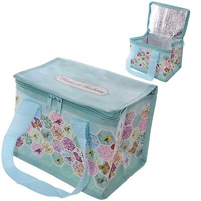 Patchwork Bird Ted Smith Cool Bag School Picnic Lunch Box Small Ice Box 5 Litre