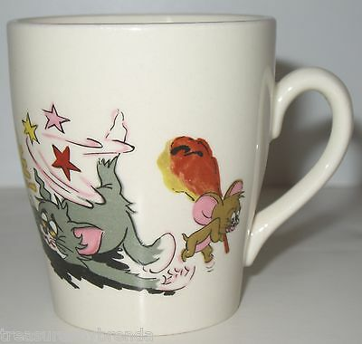 Vintage Tom and Jerry Coffee Mug Cup Made in England Cartoon Comic