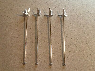 Lot of 4 NEW Grey Goose Vodka Metal Cocktail Stirrers