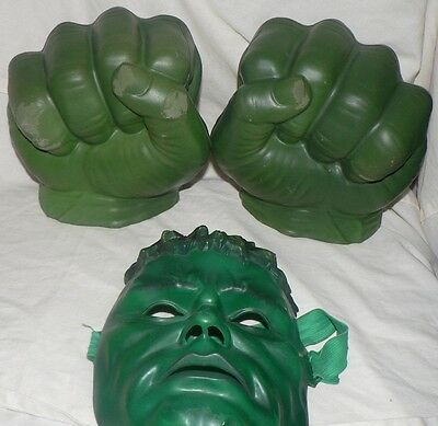 The Incredible Hulk Hands, Marvel Toy With Mask #