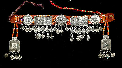 Maroc- Ethnique Front set, Akhsass, Ait Baamran, sewn on a leather band