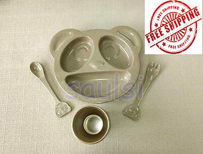 Eco Friendly Product Rice Husk biodegradable KID'S DINNER SET FREE SHIPPING**
