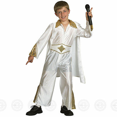 BOYS 50s ELVIS ROCK STAR FANCY DRESS COSTUME KING POP N ROLL CHILDS KIDS 4 7  sc 1 st  PicClick UK : kids pop star costume  - Germanpascual.Com