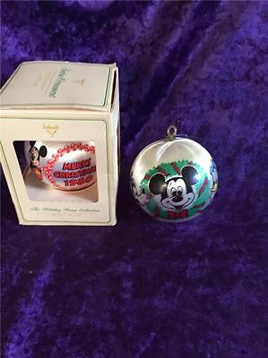 Ambassador Ornaments 1977 & 1980 Merry Christmas Mickey Mouse Ball Holiday House