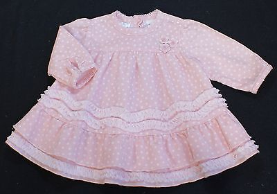 Sarah Louise dress baby girl frilly PINK 3 months BNWTS