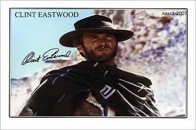 4x6 SIGNED AUTOGRAPH PHOTO PRINT OF CLINT EASTWOOD #44