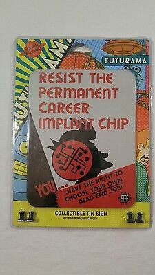 Futurama Collectible Tin Sign With Four Magnetic Pegs