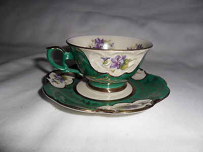 Royal Heidelberg Winterling Germany Bavaria Green Tea Cup& Saucer Porcelain 4.5""