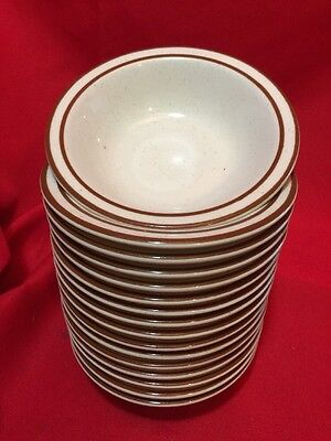 "16 Syracuse China Bowls 6"" off-white with 2 brown rings Restaurant Ware"