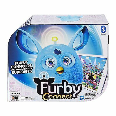 Blue Furby Connect Bluetooth Interactive with Sleep Mask - NEW