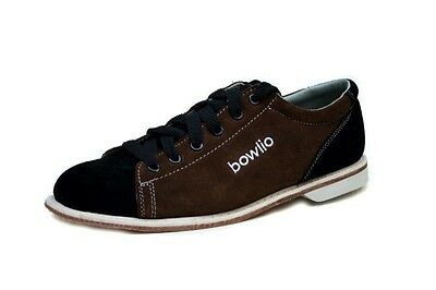 Bowlio Supreme - Suede Leather Tenpin Bowling Shoes in black and brown for men a