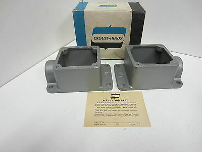 "(2) NIB Crouse Hinds ARRH 23 3/4"" Receptacle Housings"