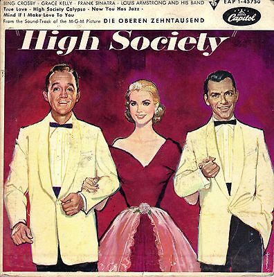"7"" Frank Sinatra / Armstrong / Crosby – EP–Soundtrack « High Society »// Germany"