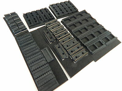 10 Pieces Each 8,14,16,18,20,24 Pin Dip Ic Sockets - Usa Seller Fast Shipping