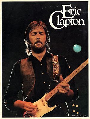 Eric Clapton 1975 There's One In Every Crowd Tour Concert Program Book
