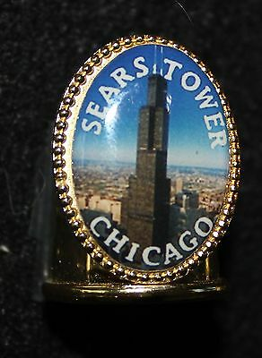 Sears Tower, Chicago - Gold Metal Thimble