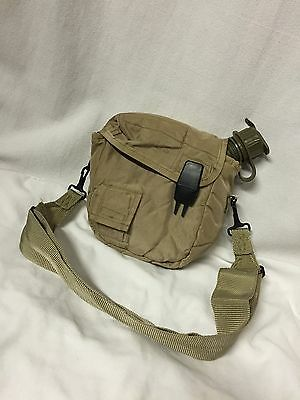 TAN CARRIER NOS CANTEEN 2QT 2 QUART US MILITARY ALICE w/ COVER POUCH & STRAP VGC