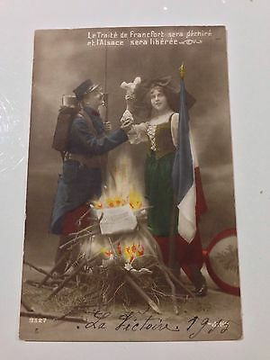 WW1 French Patriotic Postcard, Dated 1915.