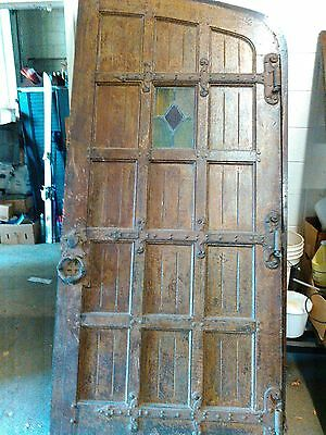 antique church outside doors.