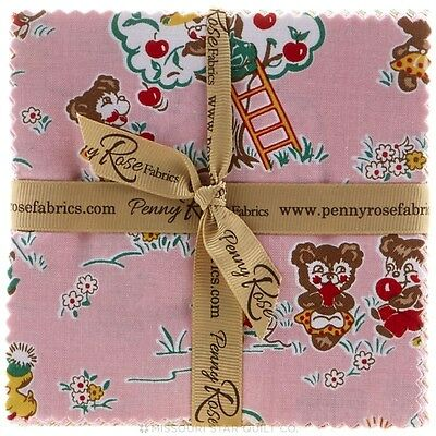 "Quilting Fabric Layer Cake - Penny Rose Fabrics - Apple Farm X 21, 10"" X 10"""