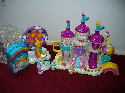 CARE BEARS CASTLE playset COMPLETE SET w/sounds+ Ferris wheel + extra LOT