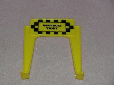 """(1) 1965 Ideal Motorific Torture Track """"Steering Test"""" yellow sign, CM-7788"""