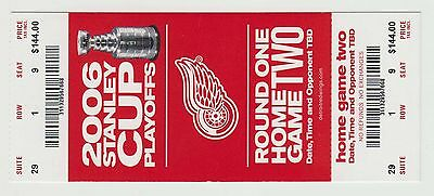 2006 - Detroit Red Wings - Ticket Stub - Stanley Cup Playoffs - Round 1 Game 2