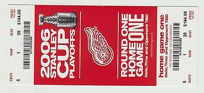 2006 - Detroit Red Wings - Ticket Stub - Stanley Cup Playoffs - Round 1 Game 1