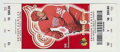2007 - Detroit Red Wings - Ticket Stub - Game 46 Chicago