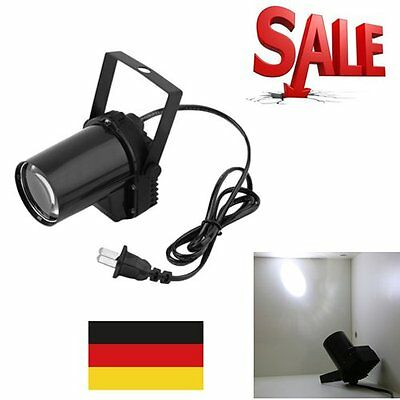 3W LED Spotlight Spin Stage Lighting Party Show Light Mount Effect Pinspot CQ