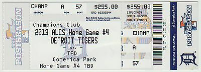 2013 - Detroit Tigers - Division Series - Home Game #4  Not Played - Ticket Stub