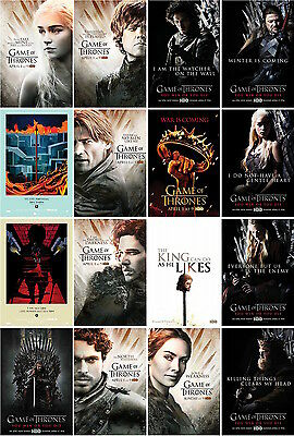 16  postcards of game of thrones tv series film moive kingdom magic action wars
