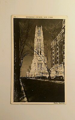 Vintage View - Black & White - Riverside Church - New York City, NY