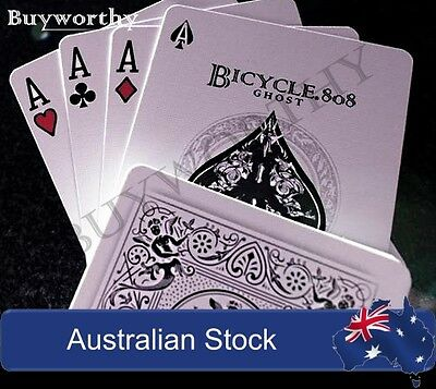 Ghost Playing Cards White Edition Ellusionist Deck Brand New & Sealed