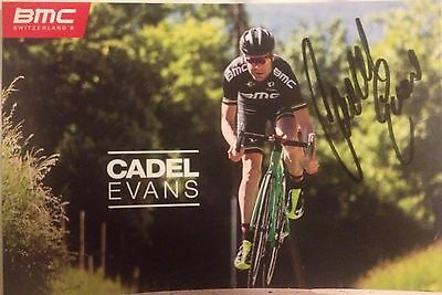 Cadel Evans SIGNED BMC promo. UCI, Tour de France, Cycling, bicycle racing, bike