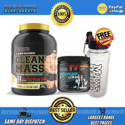 Maxs Clean Mass Protein Powder 6lb + Max's Betapump Pre-Workout 60 Scoops
