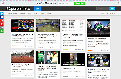 100% Fully Automated, Sports Video Website, Ad Earnings