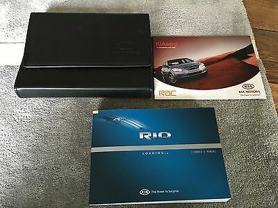 Rare Kia Rio Handbook Owners Manual & Wallet 2011-2016 ** Mark 3 *1.1 1.4 1.6 Td